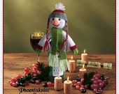 Snowman bottle topper  pattern This pattern CAN be IMMEDIATELY DOWNLOADED