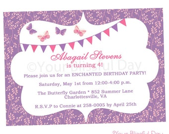 PRINTABLE Enchanted Butterfly Party Invitation #526