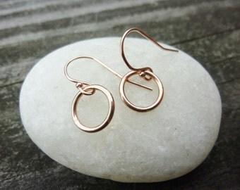 Small Circle Earrings,Small Rose Gold Circle Earrings,Gold Circle Earrings,tiny circle earrings,Small Drop Earrings,Silver Drop Earrings