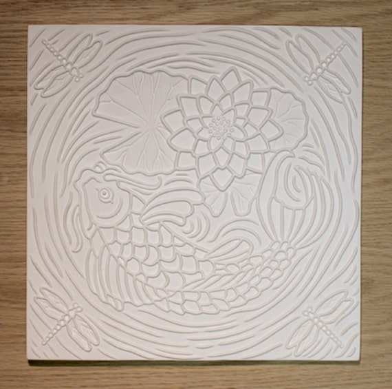 Koi Pond Texture Tile Mold For Glass Slumping 12 X 12 New Item