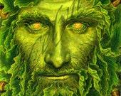Green Man / Lord of the Greenwood: Oak King Print