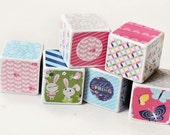 Decorative wooden blocks Welcome spring