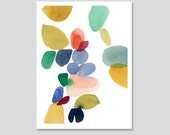 Autumn series print Abstract painting Watercolor Print Large print colorful home decor