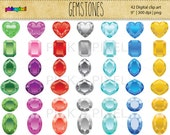50% off SALE - Gemstone, Diamonds  - Digital clip art - Personal and Commercial Use
