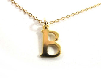 Initial necklace, Charm Necklace, Gold Initial, gold filled necklace, personalized jewelry, Sigal line