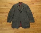 mens vintage Hickey Freeman H. Freeman and sons herringbone tweed sport coat