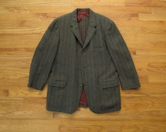 mens vintage Hickey Freeman H. Freeman and sons herringbone tweed sport coat