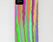 Geometric Lime Lines Phone Case Pattern Abstract Painting - Designer iPhone Samsung Case