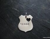 Police Badge, Police Jewelry, Police badge charm, Police badge necklace, Police badge pendant, Police wife jewelry, Police girlfriend,