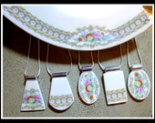Custom Made RECYCLED HEIRLOOM CHINA Plate Jewelry - Reserved for Caroline