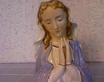 Vintage Porcelain Madonna Planter
