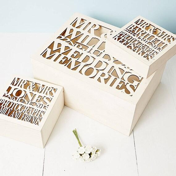 Personalised Wedding Keepsake Gifts : Personalised Wooden Wedding Gift Keepsake Box by SophiaVictoriaJoy