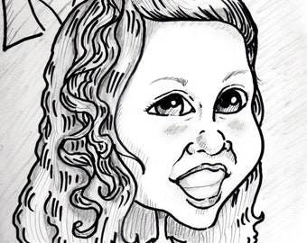 Two Black and White Caricatures
