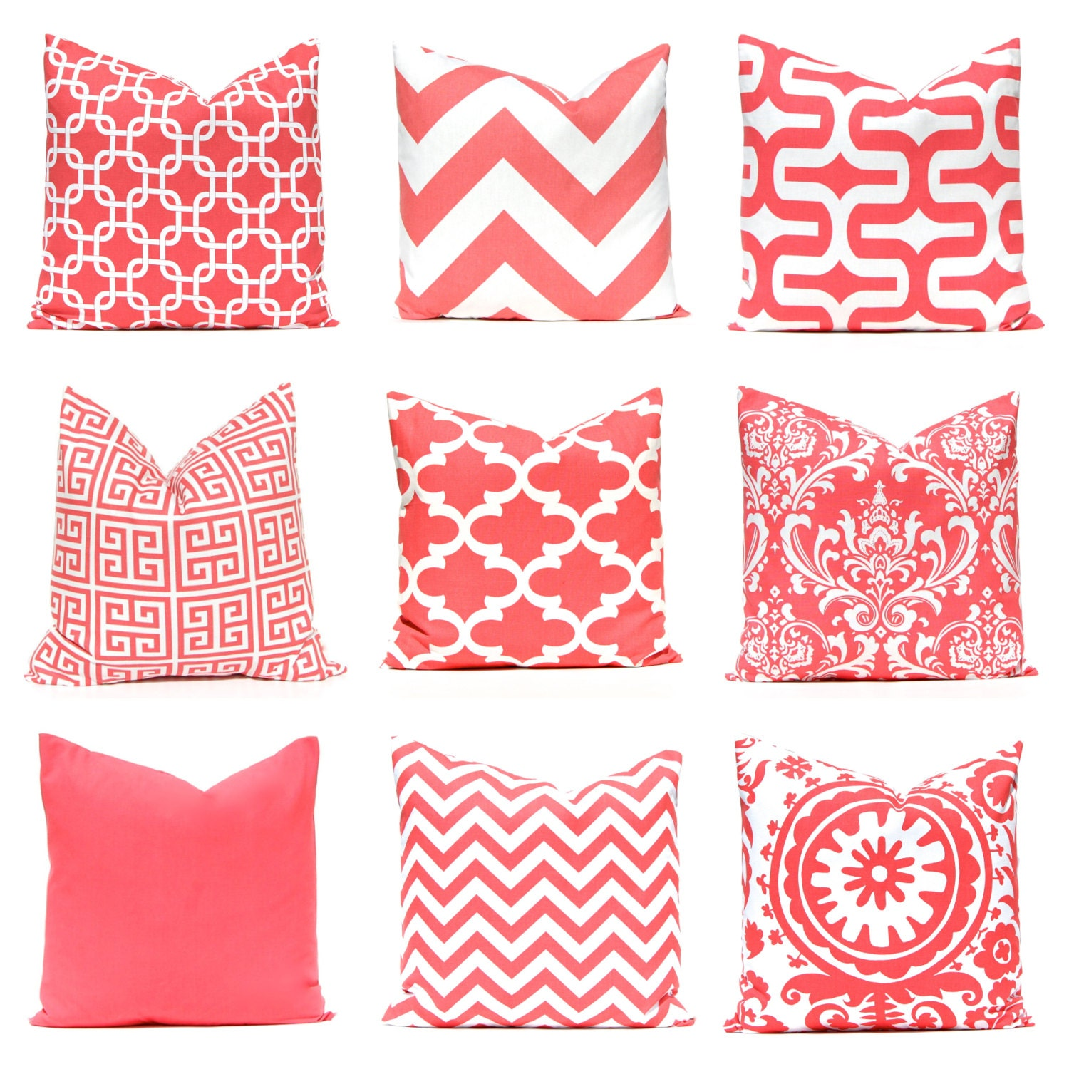 Coral Pillow Cover Decorative Pillow Cover Throw Pillow