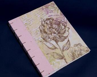 Retro style coptic binding notebook