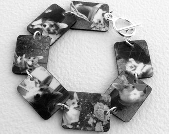 Waterproof Custom Photo Bracelet (BW)-- FREE Gift Wrapping Included