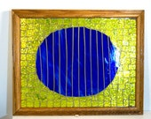 Stained Glass Mosaic Abstract Art Housewares Home Decor Wall Decor Wall Hanging Blue Moon