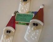 Fused Glass Santa Ornament - Ziggy