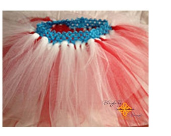 Red white and blue infant tutu