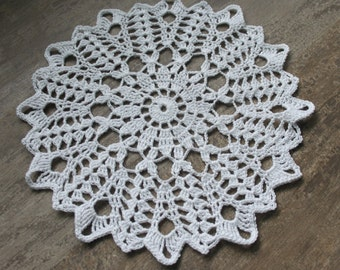 Crochet doily, lace doilies, table decoration, crocheted doilie, center piece, hand made, Winter doily, napkin, white, wedding