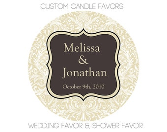 Customizable Favor, Hand Poured Soy Candle Favors, Customizable Scent & Label, Wedding Favor, Baby Shower Favor, Bridal Shower Favor