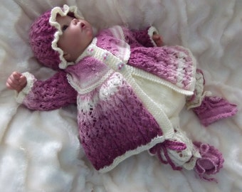 Knitting Pattern PDF for outfit to fit 0-3 month baby/reborn