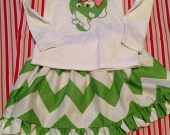 Elephant shirt and Skirt size 18 months up to size 14