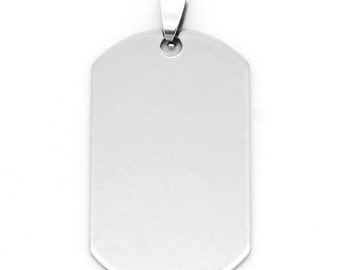 """10pc of Dog Tag Stainless Steel 5cm x 2.4cm (2"""" x 1') Blank Stamping Tag"""