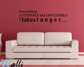 EVERYTHING IS POSSIBLE Wall decal quote