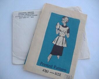 Mail Order Anne Adams Pattern 4761, Misses' Cobbler Apron Size Small (10-12) Uncut