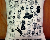 Rescue Dogs Throw Pillow Cover 14X16