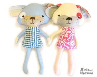 Puppy Dog Softie PDF Sewing Pattern Stuffed Toy