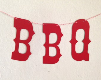 BBQ banner - perfect for photo props - party decor - cowboy theme - carnival - country fair -wedding
