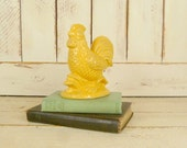Yellow country chicken/ceramic yellow rooster/rustic country farmhouse décor