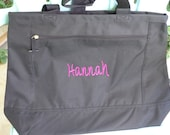 Set of ten monogrammed bridesmaids totes made to order.