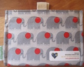 Elephant Parade  Eco Friendly Snack Bag by Seweco/Easy Open /Child Friendly Tabs/FOOD SAFE