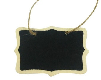 5 Mini Hanging Blackboard Signs *Wedding*Lolly Buffet*Baby Shower*Beach Party* + Post