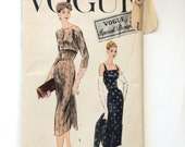 50s Vogue S-4714  Sheath Dress ONLY NO Bolero Size 14 Bust 34