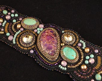 Bead Embroidered Cuff - It's a Mystery!