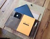 Allen iPadmini case, handmade leather case, leather carrying case for iPad & iPhone, leather gear for small tablets hand sewn by Aixa Sobin