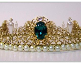 Medieval Crown - Renaissance Crown, Anne Boleyn Crown, Full Circle Crown, Tudor Crown, Crown