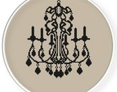 Instant Download,Cross stitch pattern, Crossstitch PDF,vintage luxury lamp,Chandelier,cross stitch pillow pattern,zxxc0537