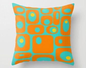 Cool Outdoor Pillow, Modern Outdoor Pillow,  Geometric Outdoor Pillow, Mid Century Modern Outdoor Pillow