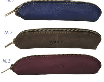 Luxury leather cases for glasses, beauty accessories and pens,named Loulou MADE TO ORDER