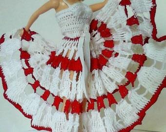 Crochet Barbie Size Dress