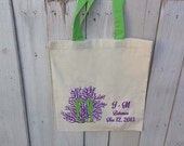 48 Custom Wedding Canvas Totes with Colored Handles - Eco-Friendly Natural Cotton Canvas