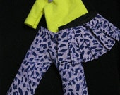 LTF/YOSD Purple Leopard 1/2 Skirt and Shirt Set