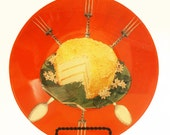 Coconut Cake Collage Plate