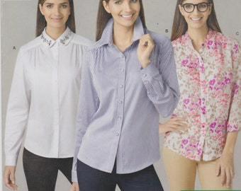 Simplicity Sewing Pattern 1279 Misses' Shirt By Threads New UNCUT