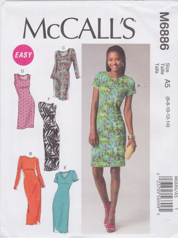 McCall's Sewing Pattern M6886 Misses' Dresses New UNCUT